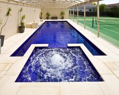 40 Perfect Modern Swimming Pool Designs Best For This Summer - Like everything around us, the idea of the swimming pool design also is experiencing significant changes. From being a rectangular pool of water it ha. Luxury Swimming Pools, Best Swimming, Luxury Pools, Swimming Pools Backyard, Swimming Pool Designs, Pool Landscaping, Pool Spa, My Pool, Piscina Diy