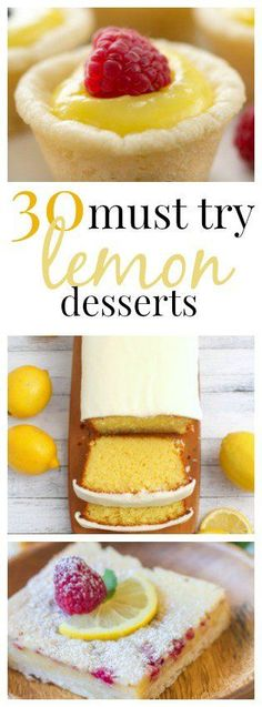 30 must try lemon desserts from SixSistersStuff.com | With the weather warming up, lemon tastes especially good and light. We have put together a list of our most favorite lemon desserts that you just have to try. So yummy, and easy to make.