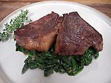 Picture of Grass-Fed Sirloin Steak with Spinach Recipe