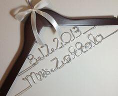 Fast shipping & turn over time. Personalized Wedding Hanger, Bride, Brides Hanger, Name, Bridal, Wedding, Bridal Gift, Hanger on Etsy, $21.99
