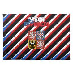 #stripes - #Czech flag cloth placemat