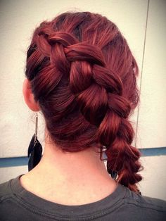 Picture of How To:Signature Katniss Braid, put end in a bun for wedding!