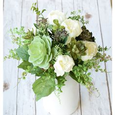 Natural Touch Succulents and English Roses Silk Arrangment Centerpiece... (1.205 ARS) ❤ liked on Polyvore featuring home, home decor, floral decor, black, floral arrangements, home & living, home décor, silk floral arrangement, black artificial flowers and flower arrangement