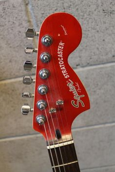 fender squier electric guitar classic vibe 50s stratocaster 2 tone 2005 squier standard series satin trans crimson double fat hh stratocaster even has the plastic still on the back of the control plates this guitar is made