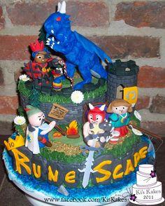 RuneScape 10 year anniversary cake