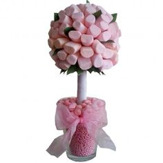 Pink Marshmallow Sweet Tree, instead of flowers on the kids tables these would be a great idea