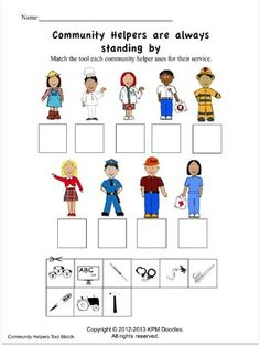 Fun Community Helpers Activities with a full lesson plan.  Also can download a fun song on community helpers.