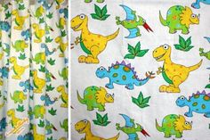 Kinderzimmer Gardine 'Dino hell' nach Wunschmass
