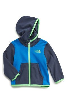 The North Face 'Glacier' Full Zip Hoodie (Baby Boys) available at #Nordstrom