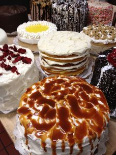 Rosine's Restaurant~ caramel cake, lemon cream cheese cake, red velvet cake and more!