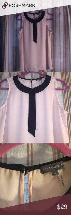 NWOT Nice top by Vince Camuto Cute blush pink top , size M, 100% polyester Vince Camuto Tops Blouses
