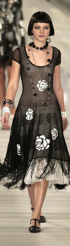 Chanel ● Love the neck line. I have a picture of Bronia Perlmutter wearing something similiar in the 1920s.