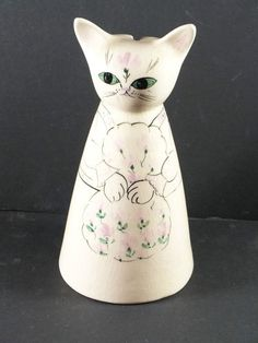 1960s Lauri Ana Studio Pottery Cat - Conical Money Box