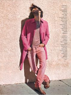 Vogue Hommes  - Cedric Buchet, Ben Hill, pink