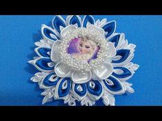 Flor de tecido - Flor Dupla Frozen...lindaaa...passo a passo^^ - YouTube