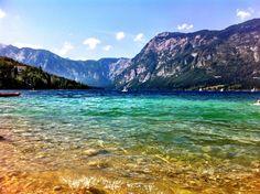 Visit in June and July. Bohinjsko jezero (Bohinj Lake) in Bohinjsko jezero, Slovenia