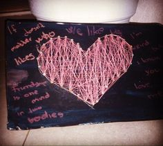DIY String Heart  #string #stringart #heart #friends #birthdaygift #artwork #arts_help #artstagram #diyart #diy #artsandcrafts #decor #creativeideas #pinkart #pinkandblack #valentineday #valentinesgift by artandcraftk