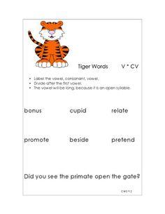 math worksheet : syllable ision worksheet  syllable division  pinterest  : Syllable Division Worksheets