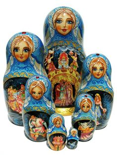 "Fairytales Nesting Dolls (7 pieces) 9""H"