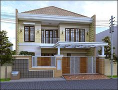 Minimal home fencing does not imply really simple, does not differ, which's the design. In fact, the term minimalist means ideal use to optimize its function. House Main Door Design, House Fence Design, Door Gate Design, Small House Design, Modern House Design, Home Room Design, Home Design Plans, Affordable Bedroom Sets, Carport Designs