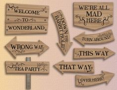 To get in the mood for a perfect Alice in Wonderland-themed party, enjoy those crazy signs! WHAT YOU GET By purchasing this item, you will be able to download, within minutes: - 1 PDF file with 9 ready-to-print pages, containing each one sign (size: 8.5 by 11) INSTANT DOWNLOAD This is a digital item you can print at home or have printed at your local printers. Why is this great ? - No shipping fees - Youll receive the files just a few minutes after purchasing it - You can print this card…