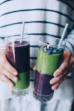 Berry & Greens Smoothie made with Madhava Organic Agave