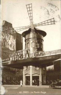 Paris Moulin Rouge x Le Moulin, Paris, History, Vintage, Cities, Moulin Rouge, 19th Century, Antique Pictures, Montmartre Paris