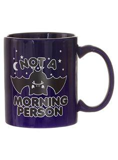 Not a Morning Person Bat Mug at PLASTICLAND