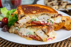 Chicken Gyro Grilled Cheese (aka The Gyro Melt) on Closet Cooking