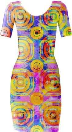 Abstract Circle Bodycon Dress