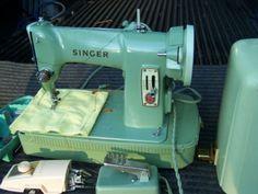 green vintage singer machine | Used Vintage Singer Sewing Machine~model 185j~green - Used Singer ...