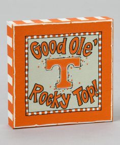 Take a look at this Tennessee Canvas by Time to Tailgate: College Colors on #zulily today!