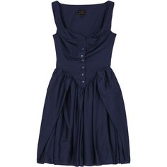 Sunday Dress by Vivienne Westwood Anglomania ($375) ❤ liked on Polyvore featuring dresses, vestidos, blue, short dresses, women's dresses & skirts, womenswear, blue button dress, mini dress, blue cocktail dresses and ruched mini dress