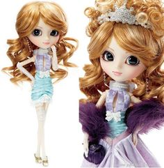 Pullip Aya $92  - The gorgeous puffed up ageha-style hair with tiara are detachable hair extensions.  - Go from Ball Gown to Cocktail dress, by removing Pullip's over skirt.  - When the cover skirt is detached, it transforms into a cocktail dress with lace stockings and garters.  - Pullip's eye make up is Pearl and white.