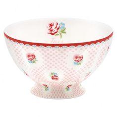 Tazza per cereali Tess sui toni del bianco e rosa. Romantici decori per la vostra tavola e la vostra sala da pranzo. Ideale in abbinamento con altri prodotti della stessa collezione.