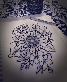 Am finding so many designs I like for my great-grandparents tattoo #sunflower_tattoo_on_hip #beautytatoos