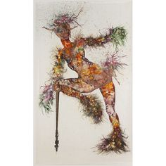 "Wangechi Mutu. She's Egungun Again. Ink, acrylic, and collage on mylar. 87"" x 58"". 2005. Exploring notions of femininity, identity + hybridity."