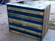 Comptoir de bar en palettes recyclées bruts : Meubles et rangements par les-palettes-a-lolo