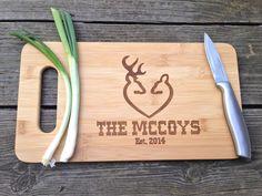 Doe & Buck Engraved Cutting Board  Bamboo by CreativeButterflyXOX, $34.95