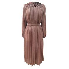 1970s sequinned vintage goddess dress