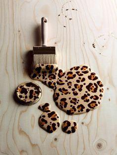 Leopard print paint