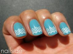 "Ahh, love it! I ordered the Konad plate with this design as well as China Glaze's ""For Audrey"" polish."