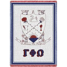 GAMMA PHI OMEGA AFGHAN THROW BLANKET  #swag #bohemian #fashionistas #gifts #cute #fashion #TShirts #selfie #collection #shop