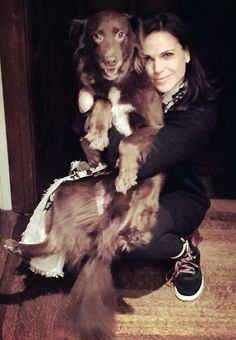 Lana Parrilla and her dog, Lola