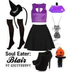 """Soul Eater: Blair"" by mintyghost on Polyvore"