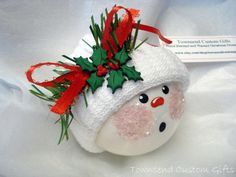 Braces Snowman Ornament Christmas Tree from TownsendCustomGifts