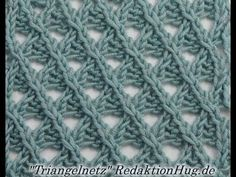 Stricken - Ajourmuster Triangelnetz