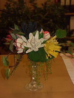 Blumen aus Eierkarton Gretel