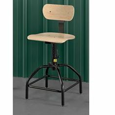 "BEVCO Molded Plywood Stools by Bevco. $149.00. BEVCO Molded Plywood Stools features comfortable contoured support that reduces fatigue. 18-ga. tubular steel frame has scratch- and chip-resistant, black baked-on enamel finish. Durable lacquered 7-ply hardwood contoured seats and backs. 5"" horizontal and 8"" vertical back adjustment offer maximum comfort. Manual seat height adjustment. Plastic floor glides and hard rubber casters available. 12-year guarantee against de..."