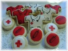 Nurse/Doctor/Medical Cookie Collection 3 by YadkinValleyCookies, Medical Party, Nurse Party, Bite Size Cookies, Cut Out Cookies, Cupcakes, Cupcake Cookies, Nurse Cookies, Doctor Cake, Biscuits